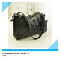 2014 new diamond lattice design women's handbags solid practical shoulder bag for women with cell phone pocket