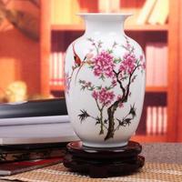 Ceramics melon famille rose vase eggshell modern home decoration crafts