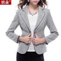 Female blazer outerwear 2014 spring and autumn slim thickening woolen blazer suit jacket