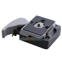 O3T# Black Camera 323 Quick Release Adapter with Manfrotto 200PL-14 Compat Plate