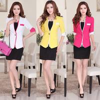 Female blazer outerwear short design slim suit 2014 spring and autumn female blazer work wear