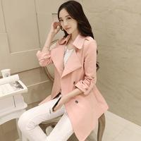 Duoyi 2014 spring suit slim design female long trench cloak outerwear ETAM female