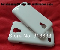 for samsung galaxy S4 mini  pure white 3D sublimation blank case . full area printable free shipping