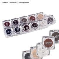 High Quality 11 Colors/Set PCD Permanent Eyebrow Lip Makeup Pigment Tattoo Ink Tattoo Supplies