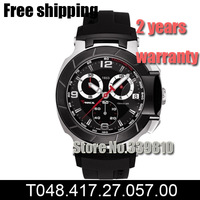 New T048 T-Race Watch Men Chronograph T048.417.27.057.00 Swissing Quartz Movement Men Sports Watches Military Silicone Watch F1