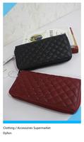 Fashion 2014 brand designer MANGO retro Purses for women quilted pattern rivet women's wallet