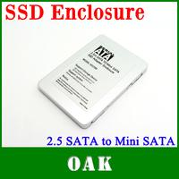 Free Shipping - HD2590-MI 2.5''inch SATA to Mini SATA SSD Adapter Enclosure High Quality - Dropshipping