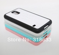 rubber sublimation case DIY case for samsung galaxy S5, soft Rubber material with aluminium plate. Free shipping
