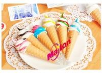 FREE SHIPPING 1LOT OF 12 PCS / wholesale korean stationery ice cream Magnet ball pen /Sticky ballpoint