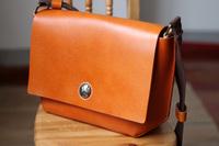 Leather cowhide handmade bag Large limited edition genuine leather vintage bag shoulder bag messenger bag