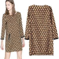 Plus Size Vintage Geometric PU leather Patch work Honeycomb Patterns Cute Mini loose Casual Novelty Dresses Plus size C3245