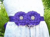new arrival fabric peony flower sash Belt  Wedding bridesmaid sash girl Maternity sash belt girls accessories 120pcs/lot