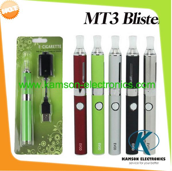 wholesale price blister EVOD 1100mah e cigarette MT3 e cigarette EGO kit blister 1 EVOD MT3