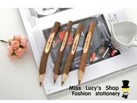 Free ship 1lot=20pcs/korean stationery kawaii cute Wholesale Cute The original wood - wooden pen pen creative pen shape