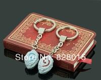 Wholesale 20pcs/lot World Of Warcraft Hearthstone Keychains WOW DOTA Stone of Recall Pendants