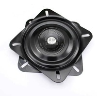 Thick Square Iron Furniture Universal Wheel Chair TV Sofa Turntable Swivel Plates 6-inch/158mm