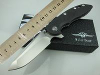 Hinderer Wild Boar Pocket Folding knife CTS 18HP CTS-18HP D2 Steel 60-62HRC Blade Carbon fiber Titanium Alloy Handle Free ship