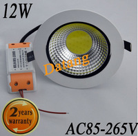 Fashion 12W cob led ceiling light cool white/warm white AC85-265V panel light