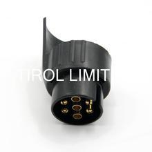 Tirol 7 To 13 Pin Trailer Plug Black Plastic Trailer Wiring Connector 12V Towbar Towing Plug N Type T12926a Free Shipping(China (Mainland))