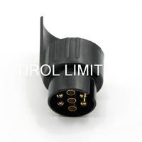 Tirol 7 To 13 Pin Trailer Plug Black Plastic Trailer Wiring Connector 12V Towbar Towing Plug N Type T12926a Free Shipping
