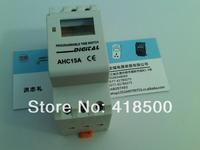 Guide rail timer time control switch ahc15a 220v power supply   digital timer    timer switch    din rail   12v timer