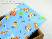 "Free Shipping 100CMx160CM ""Balloon Bear"" Patchwork Cotton Fabric meter for Sewing Bedding Sheets Cloth  W3B3-4-1"