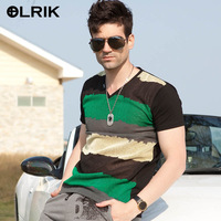 Short Sleeve cotton 2014 New arrival men's shirt and V-Neck t shirts blusas Men's Casual t-Shirts free shipping