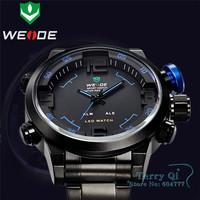 2015  Weide New Oversize LED Digital-Analog Quartz Alarm Sports Mult-functional Wrist Watch  +Gift Box Free Ship