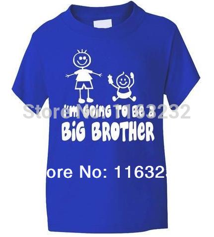 I'm Going To Be Big Brother Boys T shirt Children Funny Custom Short Sleeve Kids' shirts Boys Girls Kids Clothes(China (Mainland))