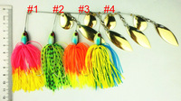 4pcs Fishing Lure Spinnerbait 19.5G/0.688oz Fresh Water Shallow Water Bass Walleye Crappie Minnow Fishing Tackle free shipping