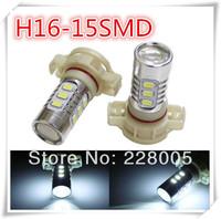 2pcs/lot White 360 degree shine 15 SMD 5730 High Power 5202 H16 LED Bulbs For Fog Light or Daytime Running Lights, Free Shipping