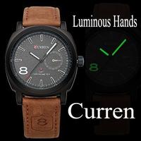 HK Post Free Shipping CURREN Luxury Brand Sports Watches Men Women Analog Quartz Watches Dress Wristwatch Cow Leather Watch
