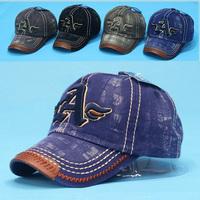 Free shipping new 2014 men's denim baseball cap high quality men's outdoor sports beach cowboy hat baseball cap