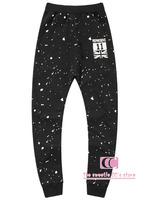 Hip hop cotton knitted pants for men / Spring and autumn fashion dot print trousers Men casual pants M-L-XL-2XL-3XL