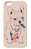 1PC Cute Dog  hard cover case for Iphone 4 4S 5 5S free shipping 006