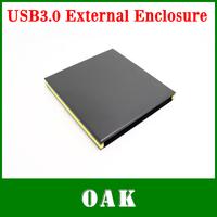 Free Shipping - Slim External USB 3.0 DVD RW Enclosure Case for 12.7mm SATA Optical Drive High Quality