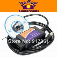 ELM327 Bluetooth ELM 327 OBDII V1.5 CAN-BUS Diagnostic Interface CODE Scanner obd 2 free shipping