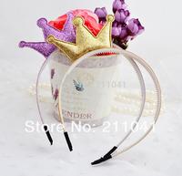 Cute Novelty High Quality Girls Angel Hair Accessories Crown Princess Children Hair Accessories hairband