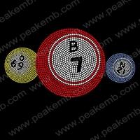 Wholesale 30Pcs/Lot New Design Free Dhl Shipping Cute Numbers Rhinestone Embellishment Iron On Transfer