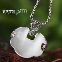 Silver jewelry LAOYINJIANG silver 925 pure silver small lock pendant - eye silver pendants  Free Shipping