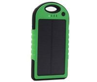 10pcs/lot green color 5000MAh solar panel portable Mobile solar battery Charger Power bank for Smart Phone