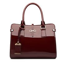 hight Quality 2015 shoulder bag japanned leather women's handbag cowhide patent leather fashion ol cross-body women's handbag