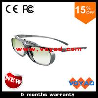 Latest Lightest Rechargeble Universal black DLP link active 3D glasses Frequency cover:96Hz,100Hz,120Hz,144Hz free ship