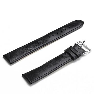 Unisex PU Leather Watch Strap 18MM(Black)(China (Mainland))