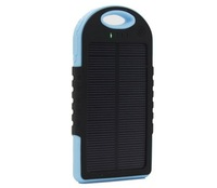 10pcs/lot new blue color 5000mAh Solar Charger Power Bank 5000mAh Portable Charger Solar Battery External Battery Charger
