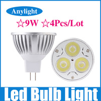 4Pcs/Lot 9W MR16 dimmable AC/DC 12v CE Warm/Pure/Cold/White High Power LED Lamp/Spot lighting WSP05