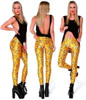 Montage Black AD006 Adventure Time Bro Ball Leggings 2014 Fashion New Women Digital Print Galaxy Pants plus size Free shipping