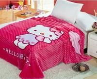 2014 new style coral velvet cartoon children's blankets flannel blanket air conditioning blanket sheets summer blanket 150*200