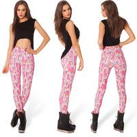 New! Fashion! AD008 Adventure Time Bro Ball Leggings 2014 Fashion New Women Digital Print Galaxy Pants Free shipping