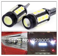 2pcs/lot Hernia White High Power SMD5050 COB 15 LED T15 8W car reversing light car light Wholesale Free Shipping High Power Chip